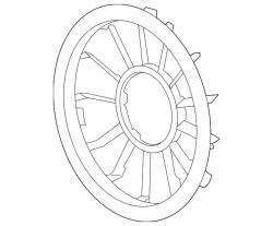 Cooling System - Cooling Fans & Fan Parts - GM - GM Fan Shroud Rear (2006-2010)