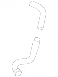 Intercooler & Piping - Intercooler & Piping - GM - GM OEM Intercooler Hose (Outlet Duct)