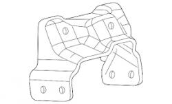 Transmission - Transmission Kits & Lines - GM - GM Allison Transmission Mount Bracket