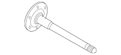 "Differential & Axle Parts - 9.25"" Front Axle - GM - GM Front Axle Output Shaft (Passenger Side) 2001-2010"