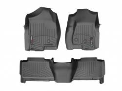 Interiors - Interiors Accessories/Necessities - WeatherTech - WeatherTech Duramax Crew Cab Front & Rear Laser Measured Floor Liners (Black) 2001-2007
