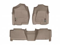 Interiors - Interiors Accessories/Necessities - WeatherTech - WeatherTech Duramax Crew Cab Front & Rear Laser Measured Floor Liners (Tan) 2001-2007