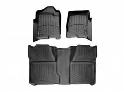 Interiors / Exteriors - Interiors Accessories/Necessities - WeatherTech - WeatherTech Duramax Crew Cab Front & Rear Laser Measured Floor Liners (Black) 2007.5-2014