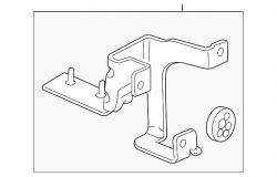 Brake System and Components - Electronics /Sensors  - GM - GM Electronic Brake Control Module Bracket (2007.5-2010)