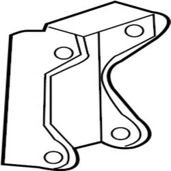 Engine - Sensor & Electrical - GM - GM OEM Support Bracket For Dual Alternator Application (2001-2016)
