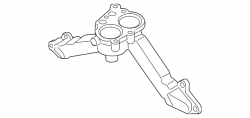 Cooling System - Thermostats, Water Pumps, Housing Parts - GM - GM OEM Thermostat Housing (2009-2010)