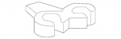 Transmission - Transmission Fittings/Hardware - GM - GM OEM Oil Cooler Inlet And Outlet Pipe Retaining Clip (2007.5-2010)