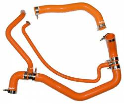 Cooling System - Hoses, Hose Kits, Pipes & Clamps - PPE - PPE Performance Silicone Upper and Lower Coolant Hose Kit, Orange (2001-2005)