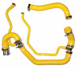 Cooling System - Hoses, Hose Kits, Pipes & Clamps - PPE - PPE Performance Silicone Upper and Lower Coolant Hose Kit, Yellow (2006-2010)