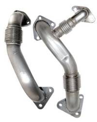 Exhaust  - Exhaust Manifolds & Up Pipes - PPE - PPE Performance OEM Length Replacement High Flow Up-Pipes (2004.5-2005)
