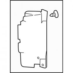 GM OEM Radiator Air Baffle Right Side (2011-2014)