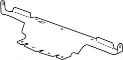 2011-2016 LML VIN Code 8 - Cooling System - GM - GM OEM Radiator Support Baffle Lower (2011-2014)