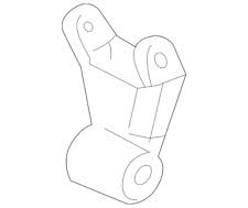 2004.5-2005 LLY VIN Code 2 - Suspension - GM - GM OEM  Rear Suspension Shackle (2001-2010)