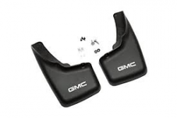 "Exteriors Accessories/Necessities - Mud Flaps/Splash Guards - GM - GM OEM ""GMC Logo"" Front Mudflaps for OEM Flares (2001-2007)"