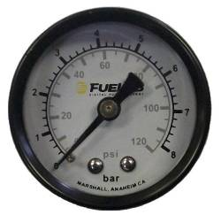 Fuel Lab - Fuelabs  EFI  1.5 inch Fuel Pressure Gauge Dual Scale. Range: 0-120 PSI