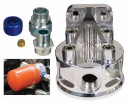 2006-2007 LBZ VIN Code D - Filters - GM - PPE Billet Aluminum Remote Oil Filter Mount Kit (2001-2010)
