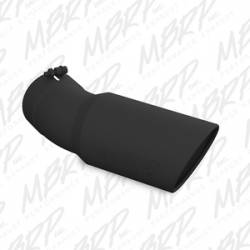 "Exhaust - Exhaust Tips - MBRP - MBRP Universal Tip, Black,  6"" O.D., Angled Rolled End, 5"" inlet, 15 ½"" in length, 30 degree bend, T304"