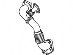 Exhaust - Exhaust Manifolds & Up Pipes - GM - GM OEM Exhaust Inlet Pipe (RH) 2007.5-2010