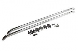 GM - GM Accessories Chrome Side Rails Long Bed (2001-2007)