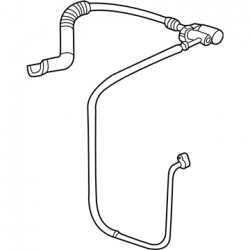 2006-2007 LBZ VIN Code D - Cooling System - GM - GM OEM Air Conditioning Discharge Hose & Tube Assembly (2003-2007)