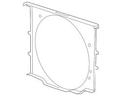 Cooling System - Cooling Fans & Fan Parts - GM - GM OEM Cooling Fan Front Shroud (2015-2016)