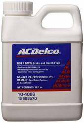 2004.5-2005 LLY VIN Code 2 - Additives/Lubricants/Fluids/Sealants - GM - GM AC Delco DOT 4 Hydraulic Brake and Clutch Fluid - 16 oz (2001-2018)