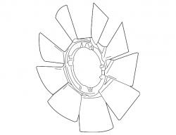 Cooling System - Cooling Fans & Fan Parts - GM - GM OEM Fan Blade (2017-2018)