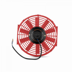 "Cooling System - Cooling Fans & Parts  - Mishimoto - Mishimoto Slim Electric Fan 12"" Red (Universal)"