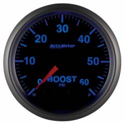 "Gauges & Pods - Gauges  - Auto Meter - Auto Meter Elite Series 2-1/16"" Boost, 0-60 PSI, Stepper Motor (Universal)"