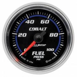 "Gauges & Pods - Gauges  - Auto Meter - Auto Meter Cobalt Series 2-1/16"" Fuel Pressure, Stepper Motor, 0-100 PSI (Universal)"