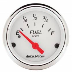"Auto Meter - Auto Meter Artic White, 2-1/16"" Fuel Level, 240-33 , Air Core (Universal)"