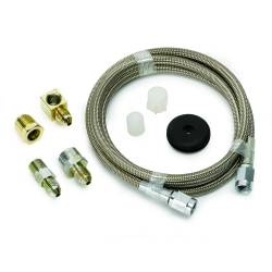 "Auto Meter - Auto Meter Braided Stainless Steel Line, #3 DIA., 4FT.Lgnth, -3AN AND 1/8"" NPTF Fittings (Universal)"