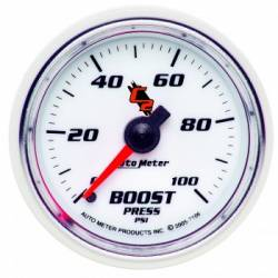 Gauges & Pods - Gauges  - Auto Meter - Auto Meter C2 Series Boost Gauge-Mechanical  (0-100 PSI)