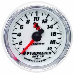Gauges & Pods - Gauges  - Auto Meter - Auto Meter C2 Series Pyrometer Gauge (0-2000 F)