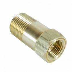 "Auto Meter - Auto Meter Adapter Fitting, 1/2"" NPT Male, Extention, Brass, for Mechanical Temp Gauge (Universal)"