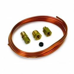 "Auto Meter - Auto Meter CopperTubing,1/8"",6FT. Lng, with 1/8"" NPTF Brass Compression Fittings (Universal)"