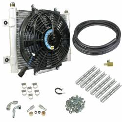 Transmissions - Transmission Coolers/Fans - BD Diesel Performance - BD Diesel Xtrude Transmission Cooler with Fan - Complete Kit 1/2in Lines