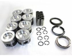 Engine - Pistons & Rods - Mahle Motorsport - MAHLE Motorsports Performance Cast Pistons Kit ,.040 16.6CR w/.075 Pockets (Delipped with Machine Valve Reliefs) 2001-2016