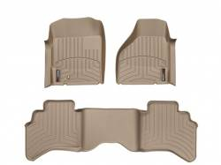 Interior / Exterior - Interiors Accessories/Necessities - WeatherTech - WeatherTech Dodge/Ram Front & 2nd Row Set,  Laser Measured Floor Liners (Tan) 2003-2009