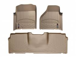 Interior / Exterior - Interiors Accessories/Necessities - WeatherTech - WeatherTech Dodge/Ram Front & 2nd Row Set, Mega Cab  Laser Measured Floor Liners (Tan) 2006-2008