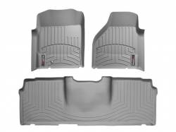 Interior / Exterior - Interiors Accessories/Necessities - WeatherTech - WeatherTech Dodge/Ram Front & 2nd Row Set, Mega Cab  Laser Measured Floor Liners (Grey) 2006-2008
