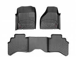 Interior/Exterior - Interiors Accessories/Necessities - WeatherTech - WeatherTech Dodge/Ram Front & 2nd Row Set, Crew Cab  Laser Measured Floor Liners (Black) 2010-2011