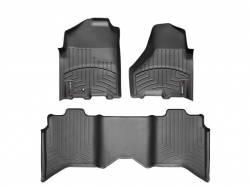 Interior/Exterior - Interiors Accessories/Necessities - WeatherTech - WeatherTech Dodge/Ram Front & 2nd Row Set, Crew Cab  Laser Measured Floor Liners (Cocoa) 2010-2011