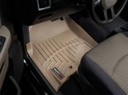 WeatherTech - WeatherTech Dodge/Ram Front Driver & Passenger, Crew/Mega Cab  Laser Measured Floor Liners (Tan) 2010-2012