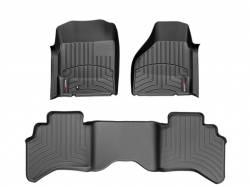 Interior/Exterior - Interiors Accessories/Necessities - WeatherTech - WeatherTech Dodge/Ram Front & 2nd Row Set, Crew Cab  Laser Measured Floor Liners (Black) 2012-2017