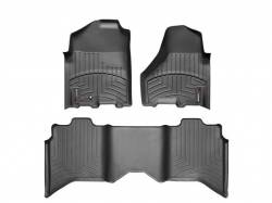 Interior/Exterior - Interiors Accessories/Necessities - WeatherTech - WeatherTech Dodge/Ram Front & 2nd Row Set, Crew Cab  Laser Measured Floor Liners (Cocoa) 2012-2017