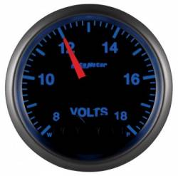 "Gauges & Pods - Gauges  - Auto Meter - Auto Meter Elite Series, 2-1/16"" Voltmeter, 8-18V, Digital  Stepper Motor (Universal)"