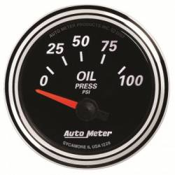 "Gauges & Pods - Gauges  - Auto Meter - Auto Meter Designer Black Series Oil Pressure. 2-1/16"", 0-100 PSI (Universal)"