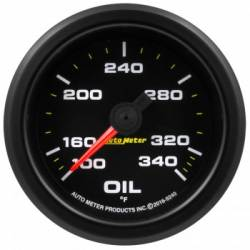 "Gauges & Pods - Gauges  - Auto Meter - Auto Meter Extreme Environment Series, 2 1/16"" Gauge, Oil Temp.340ºF, Stepper Motor w/ Peak & Warning (Universal)"