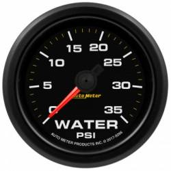 "Gauges & Pods - Gauges  - Auto Meter - Auto Meter Extreme Environment Series, 2 1/16"", Gauge, Water Pressure. 35 PSI, Stepper Motor w/Warning (Universal)"
